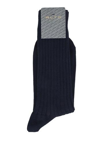 Alto Socks Alto Socks  Çizgi Dokulu Erkek Çorap 101643909 Lacivert